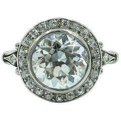 Edwardian Platinum and Diamond Engagement Ring