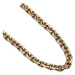 Nicolis Cola Long Gold Curb Link Necklace