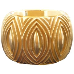 1990s Majo Fruithof Modern Sculpted Gold Band Ring, Switzerland