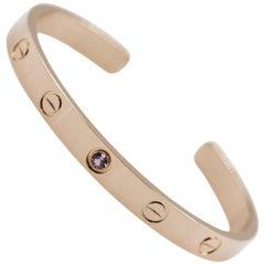 Cartier 18 Karat Rose Gold Love Bracelet 1 Pink Sapphire