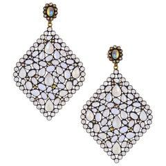34.10 Carat Moonstone Statement Earrings