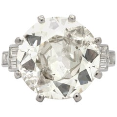 9.58 Carat Old European Cut Diamond Ring