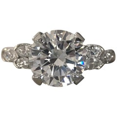 2.2 Carat Approximate, Round Diamond Ring with Pear Shapes, Ben Dannie