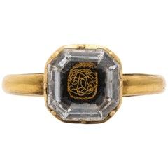 Antique Georgian 18th Century Stuart Crystal Ring