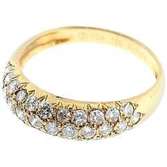 Van Cleef & Arpels 18 Karat Yellow Gold Pave Diamond Band Ring