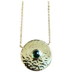 Tsavorite and 18 Karat Gold Pendant Necklace