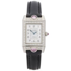 2000s Jaeger-LeCoultre Reverso Joaillerie White Gold 267.3.86 Wristwatch
