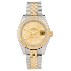 2006 Rolex Datejust Steel and Yellow Gold 179173 Wristwatch