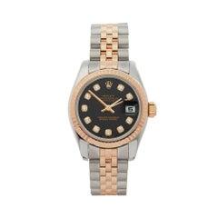 2009 Rolex Datejust Steel & Rose Gold 197171 Wristwatch