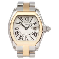 2000s Cartier Roadster Steel and Yellow Gold 2675 Wristwatch