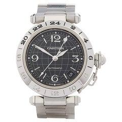 2000's Cartier Pasha de Cartier Stainless Steel W31079M7 Wristwatch