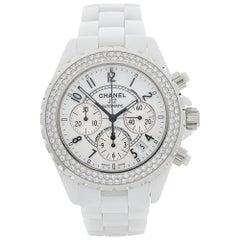 2010 Chanel J12 Chronograph Ceramic 1008 Wristwatch
