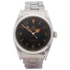1958 Rolex Explorer I Gilt Dial Stainless Steel 6610 Wristwatch