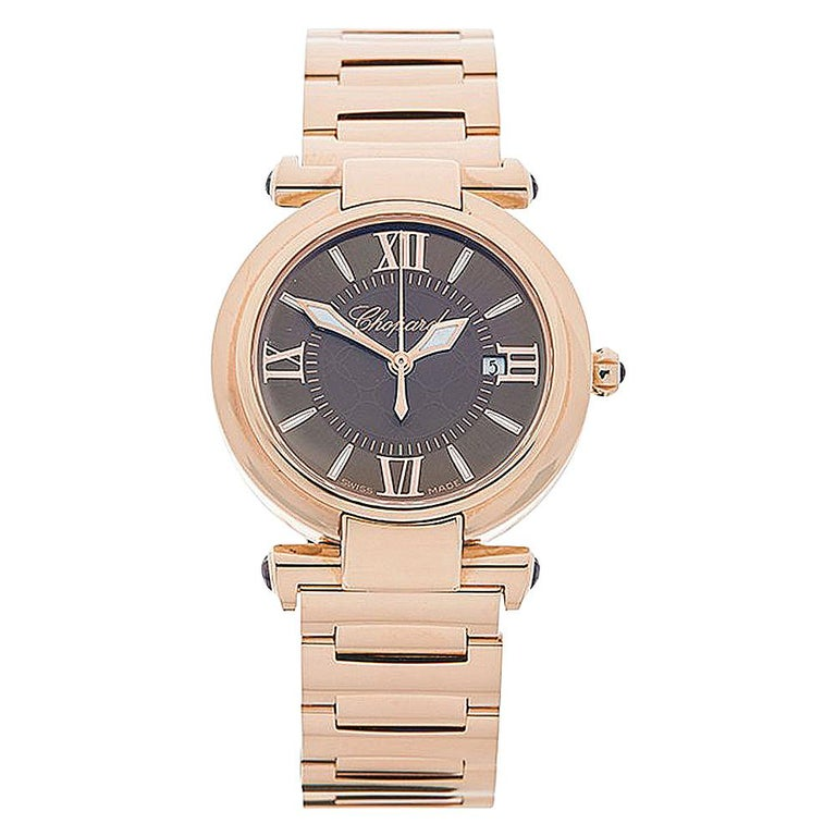 2017 Chopard Imperiale Rose Gold 384238-5006 Wristwatch For Sale
