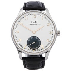 2010s IWC Portuguese 8 Day Stainless Steel IW545405 Wristwatch