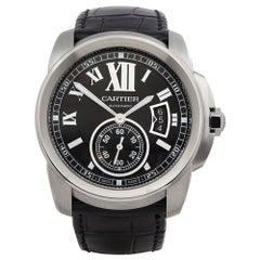 2010s Cartier Calibre Stainless Steel 3389 Wristwatch