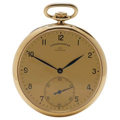 1930s IWC Vintage Turler Pocket Watch Yellow Gold Wristwatch
