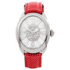 2018 Backes & Strauss Regent Diamond Stainless Steel Wristwatch