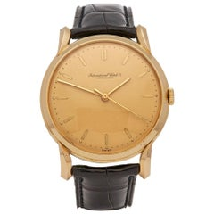 1949 IWC Vintage Cal.89 Yellow Gold Wristwatch