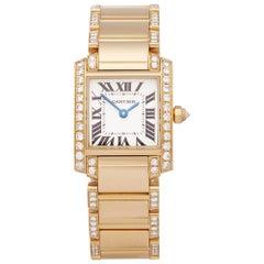 2010s Cartier Tank Francaise Yellow Gold 2364 Wristwatch