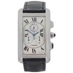 2000s Cartier Tank Americaine White Gold W2603356 Wristwatch