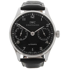 2012 IWC Portuguese 7 Day Stainless Steel IW500109 Wristwatch