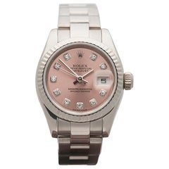 2003 Rolex Datejust White Gold 179179 Wristwatch
