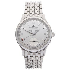 2000's Jaeger-LeCoultre Master Control Triple Date Stainless Steel Wristwatch
