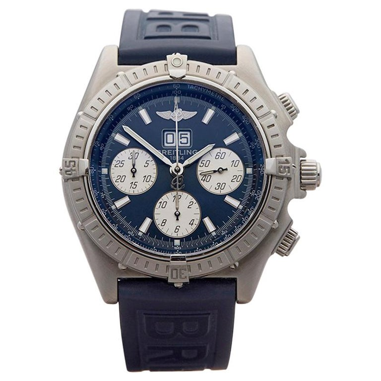 2004 Breitling Crosswind Big Date Chronograph Stainless Steel Wristwatch For Sale