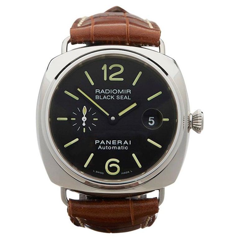2009 Panerai Radiomir Black Seal Stainless Steel PAM00287 Wristwatch