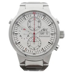 2000's IWC GST Rattrapante Chronograph Stainless Steel IW371523 Wristwatch