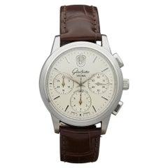 2003 Glashutte Senator Chronograph Datum Stainless Steel 3932111304 Wristwatch