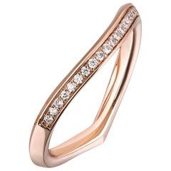 Lily Pad Matching Diamond Wedding Band Ring