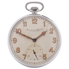 1937 IWC Pocket Watch Military Stainless Steel C.67 Pocket watch