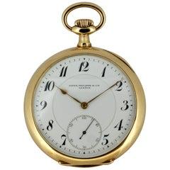 Vintage Patek Philippe 14 Karat Gold Pocket Watch, Switzerland, 1970s