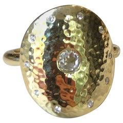 Rose Cut Diamond and 18 Karat Gold Ring