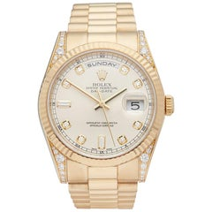2001 Rolex Day-Date Yellow Gold 118338 Wristwatch