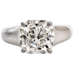 Tiffany & Co. Lucida 4.01 Carat G-VS1 Diamond Platinum Ring