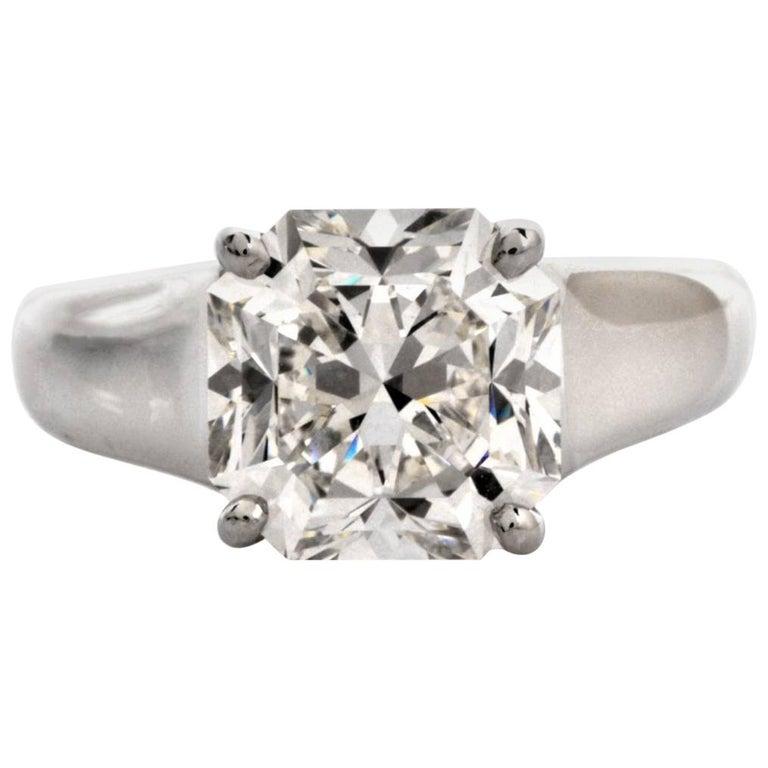 76e053a4e Tiffany and Co. Lucida 4.01 Carat G-VS1 Diamond Platinum Ring For ...