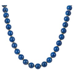 Mappin & Webb Lapis Ball Set Necklace