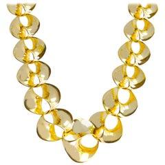 Swirl Necklace Yellow Gold 14 Karat 50.40 Grams