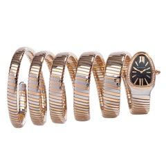 2017 Bulgari Tubogas Serpenti Steel and Rose Gold 102621 Wristwatch
