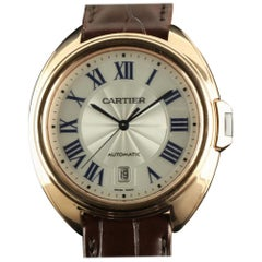 Cartier New Cle WGCL0004 18 Karat Gold Leather Box/Paper/2 Years Warranty