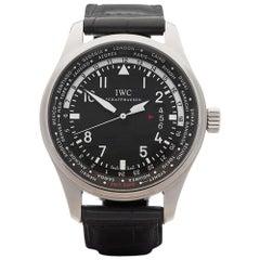2016 IWC Pilot's WorldTimer GMT Stainless Steel IW326201 Wristwatch