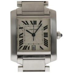 Cartier Tank Francaise Large W51002Q3 Stainless Steel Silver 2 Years Warranty