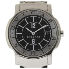 sports shoes 2573c fdcb3 Ladies Bvlgari Solotempo ST29S Stainless Steel Date Quartz ...