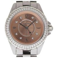 Chanel H2563 J12 Ladies Titanium Ceramic Quartz Diamond 2 Year Warranty #113-1