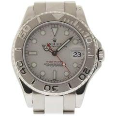 Rolex Yacht-Master 168622 Stainless Steel Platinum 2002 2 Year Warranty #218