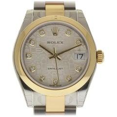 Rolex New Datejust 178243 Steel Gold Jubilee Diamond Box/Paper/Warranty #RL316