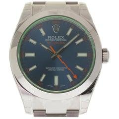 Rolex New Milgauss 116400 Blue Green Steel 2018 Box/Paper/5 Year Warranty #RL67